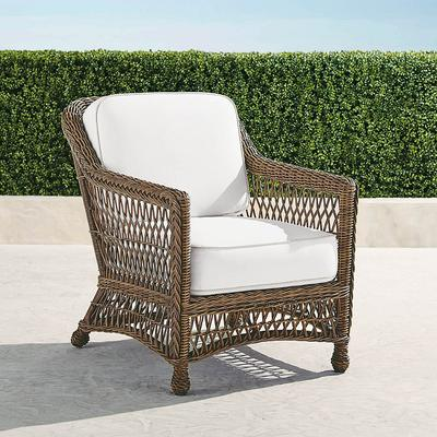 Hampton Lounge Chair with Cushions in Driftwood Finish - Resort Stripe Air Blue, Stripe, Special Order - Frontgate