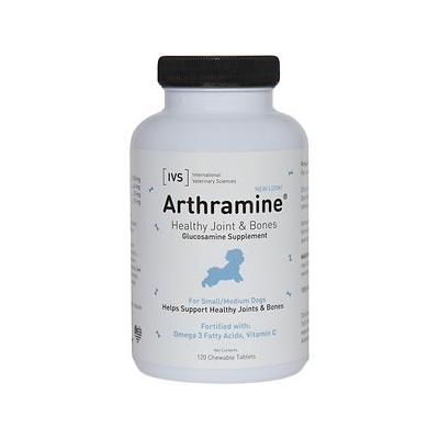 International Veterinary Sciences Arthramine Healthy Joints & Bones Glucosamine Dog Supplement, Small/Medium, 120 count