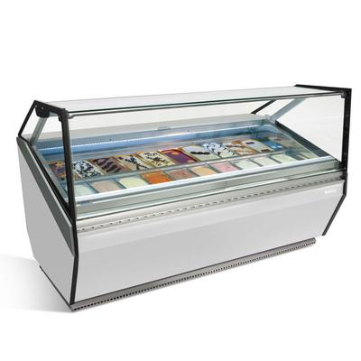 Infrico IDC-VAR12HFG 49.25 Stand Alone Gelato Dipping Cabinet w/ 14 Pan Capacity, 230v/1ph on Sale