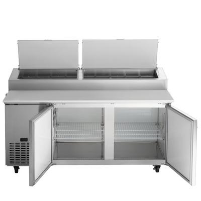 "Avantco APPT-71-HC 71"" 2 Door Refrigerated Pizza Prep Table"