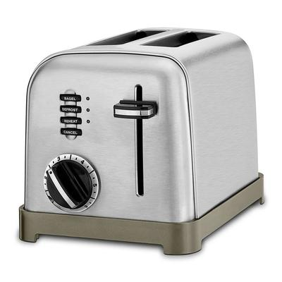 Waring CPT-160WH Cuisinart 2 Slice Toaster w/ 1.5 Slots - (3) Controls & 7 Setting Dial, Stainless/Black on Sale