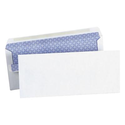 """Universal UNV36101 #10 4 1/8"""" x 9 1/2"""" White Side Seam Security Business Envelope with Self-Sealing Adhesive Strip - 500/Box"""
