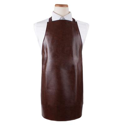"Ritz CLVAHD-1 Bib Apron - 26"" x 28"", Vinyl, Light Brown"