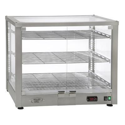 Equipex WD780S-3/1 30.5 Full-Service Countertop Heated Display Case w/ Straight Glass - (3) Shelves, 120v on Sale