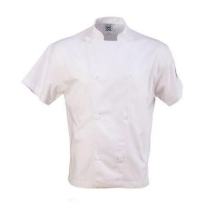 Chef Revival J205-L Chef's Jacket w/ Short Sleeves - Poly/Cotton, White, Large on Sale