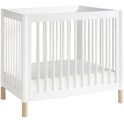 BabyLetto Gelato 2-in-1 Mini Crib - White/Natural