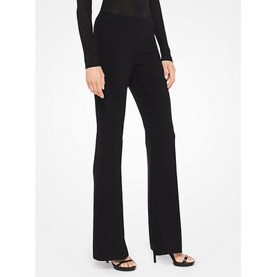 Michael Kors Collection Stretch-Crepe Flared Pants Black 6