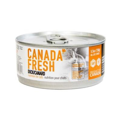 Canada Fresh Duck Canned Cat Food, 5.5-oz, case of 24