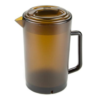 GET P-3064-1-A 8.5H Water Pitcher w/ Lid, Plastic, Amber on Sale