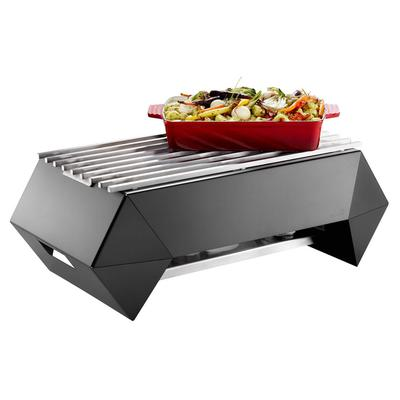 Rosseto SK046 Rectangular Warmer w/ (1) Burner - 28 x 16.63, Brushed Stainless on Sale