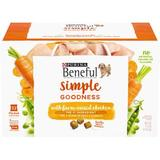 Purina Beneful Simple Goodness with Farm-Raised Chicken Dry Dog Food, 9.4-lb, 32 count