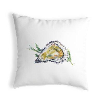 Shell outdoor throw pillow cover with