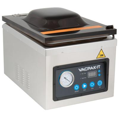 "Vacuum Sealer | VacPak-It VMC10DPU Chamber Vacuum Packaging Machine with 10 1/4"" Seal Bar and Dry Pump"