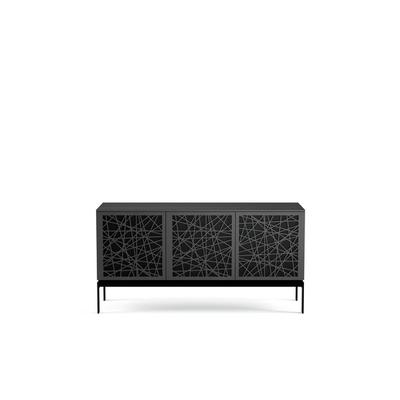 BDI Elements 8777 with Ricochet Doors, Console Base and Charcoal Finish