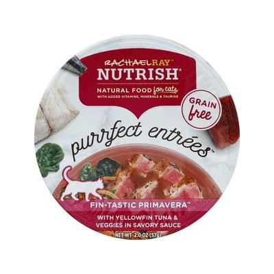 Rachael Ray Nutrish Purrfect Entrees Grain-Free Fin-Tastic Primavera with Yellowfin Tuna & Veggies in Savory Sauce Wet Cat Food, 2-oz, case of 24