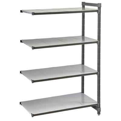 Cambro CBA214872S4580 Polymer Solid Add-On Shelf Kit - 48W x 21D x 72H on Sale