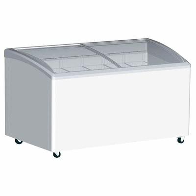 Excellence Industries VB-7HC 66.25 Stand Alone Ice Cream Freezer w/ 7 Baskets Capacity - White, 115v on Sale