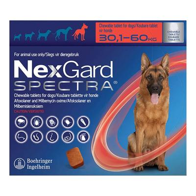 Nexgard Spectra For Xlarge Dogs 66-132 Lbs (Red) 6 Pack