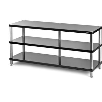 solidsteel HW-3L Wide Audio/Video Rack- Gloss Black