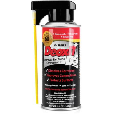 CAIG DeoxIT Contact Cleaner, 5% Spray, 5 oz