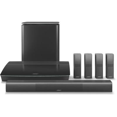 home theater system includes omnidirectional Bose OmniJewel speakers for 360-degree sound and a wireless Acoustimass bass module,5.1 surround sound system with 4K pass-through and 6 HDMI inputs,SoundTouch® Wi-Fi technology and Bluetooth® for streaming...