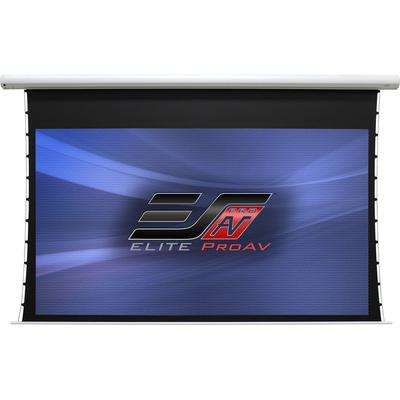 "Elite Screens Pro AV 100"" Tab Tensioned Motorized CineGrey Screen"