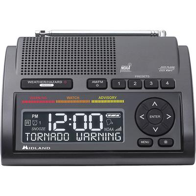 Midland WR400 Weather Alert radio with Alarm Clock