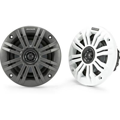 Kicker 45KM42 4 2-Ohm with Charcoal & White Grills