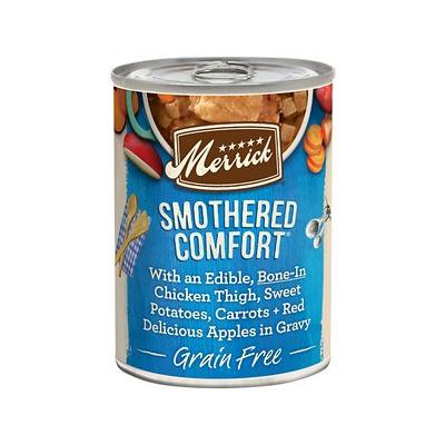 Merrick Grain-Free Smothered Comfort Canned Dog Food, 12.7-oz case of 12