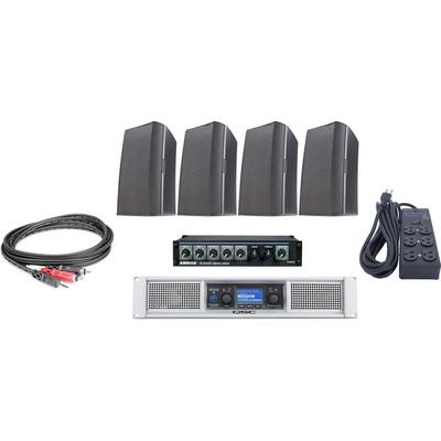 QSC Gym bundle W/Cables/Amp/mixer