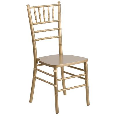 Flash Furniture XS-GOLD-GG Stacking Hercules Chiavari Chair - Wood, Gold on Sale