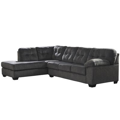 Flash Furniture FSD-1339SEC-2RAFS-GRT-GG 2 Piece L-Shaped Sectional Sofa - Microfiber, Granite on Sale