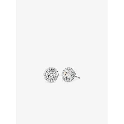 Michael Kors Precious Metal-Plated Sterling Silver Pavé Studs Silver One Size