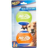Nerf Dog Squeaker TPR Tennis Ball Dog Toy, 2 pack, Large
