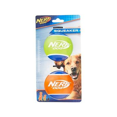 Nerf Dog - Nerf Dog Squeaker TPR Tennis Ball Dog Toy, 2 pack, Large