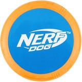 Nerf Dog Flyer Disc Dog Toy, Blue/Orange