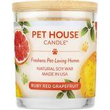 Pet House Ruby Red Grapefruit Natural Soy Candle, 8.5-oz jar