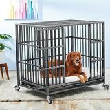 Frisco Ultimate Heavy Duty Steel Metal Dog Crate, Large