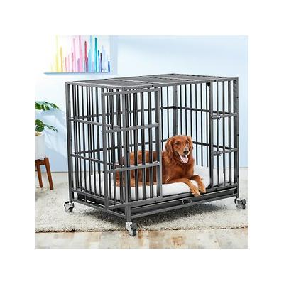 Frisco Ultimate Heavy Duty Steel Metal Single Door Dog Crate, Large