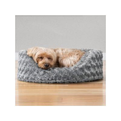 FurHaven Ultra Plush Oval Dog & Cat Bed, Gray, Small; Give your pal the beauty sleep he needs with the FurHaven Ultra Plush Oval Dog & Cat Bed. Designed for pets who like to curl-up in comfort, this oval-shaped, nest-style bed features comfy walls to...