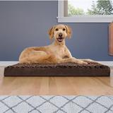 FurHaven NAP Deluxe Memory Foam Pillow Dog Bed w/Removable Cover, Chocolate, Large