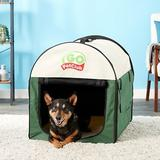 Go Pet Club Single Door Collapsible Soft-Sided Dog Crate, Green, Small