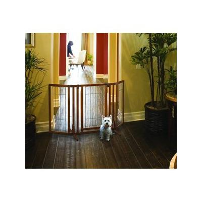Richell Premium Plus Freestanding Gate for Dogs & Cats; Help keep your pet contained in Richell\'s Premium Plus Freestanding Gate. This 32-inch tall gate is designed to fit doorway and hallway openings from 34 to 63 inches wide! Plus, the 20.5-inch...