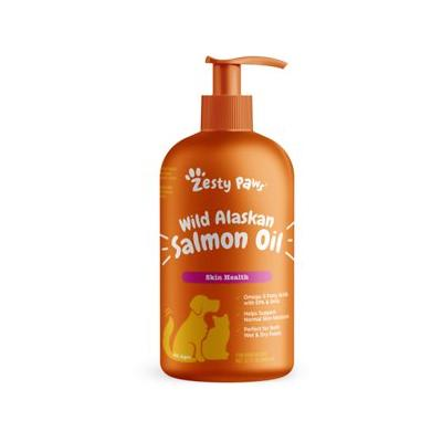 Zesty Paws Pure Salmon Oil Skin & Coat Support Dog & Cat Supplement, 32-oz bottle