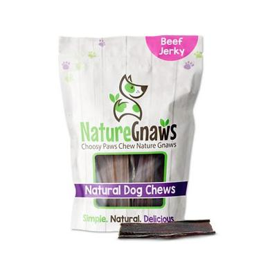 Nature Gnaws Beef Jerky Chews Dog Treats, 20 count, 4 - 5 in