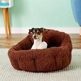 Best Friends by Sheri OrthoComfort Sherpa Bolster Cat & Dog Bed, Brown, Standard