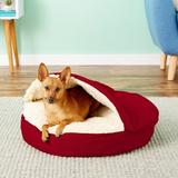 Snoozer Pet Products Cozy Cave Covered Cat & Dog Bed w/Removable Cover, Red, Small