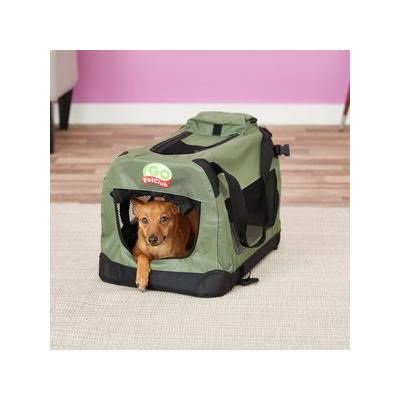 GoPetClub Soft Portable Pet Carrier, Sage, 20-in