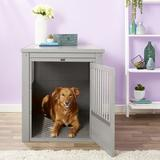 New Age Pet ecoFLEX Single Door Furniture Style Dog Crate & End Table, Grey, X-Large