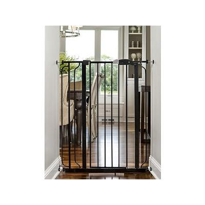Regalo Easy Step Extra Tall Walk-Through Gate, Black, 41-in